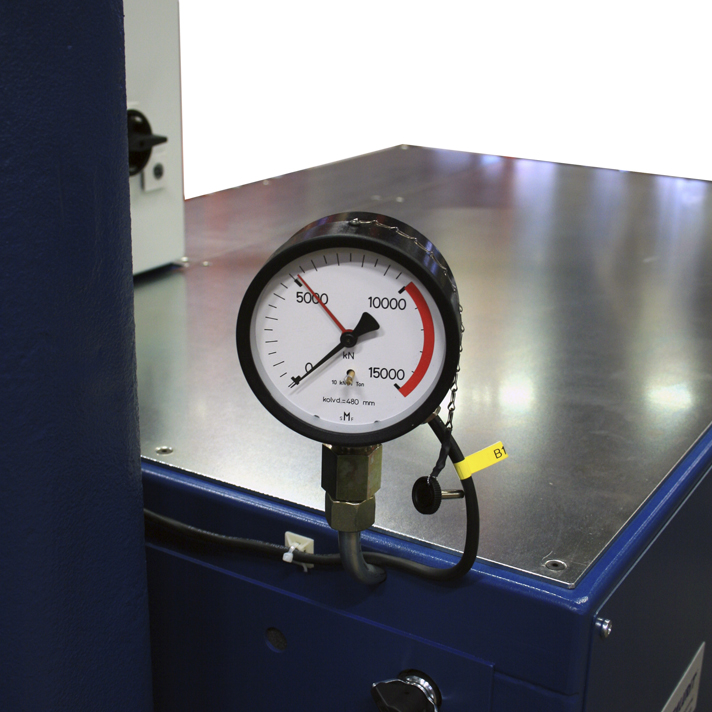 Pressure clock on P 1000T 2S swager