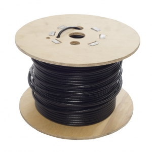 Black nylon coated rope